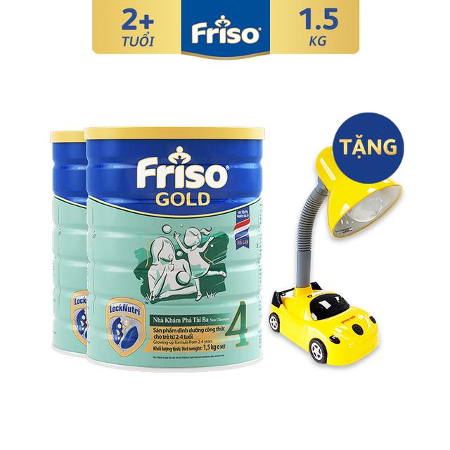 [Tặng Đèn Bàn Ô Tô] Combo 2 Lon Sữa Bột Friso Gold 4 (1500G/Lon)