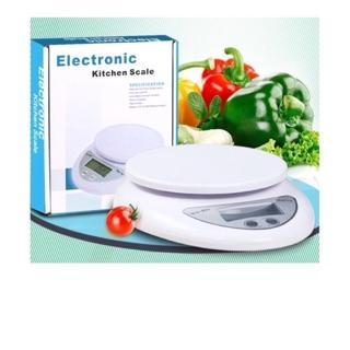 Cân điện tử 5kg cân nhà bếp( mỏ tròn)
