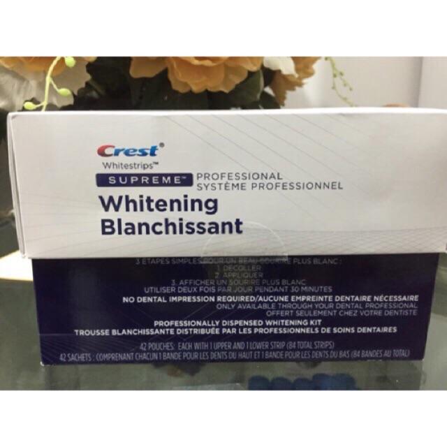 1h 42 gói dán trắng răng Crest Supreme Professional chính hãng hàng mỹ date 2019
