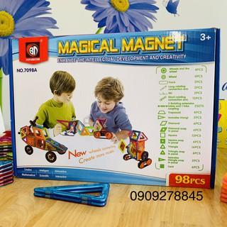 Đồ chơi Xếp hình Nam Châm Trí Tuệ Thương hiệu Magical Magnet 98 chi tiết (pcs) cho trẻ từ 3+ nhựa ABS chống va đập