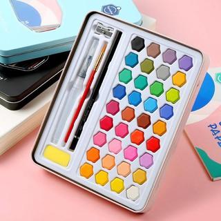 Bộ màu nước chuyên nghiệp keep smiling – set 36 màu, hộp thiếc, tặng kèm phụ kiện đầy đủ