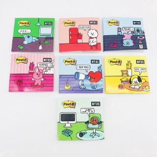 [KPOP] BTS BT21 Cartoon Notebook Sticker