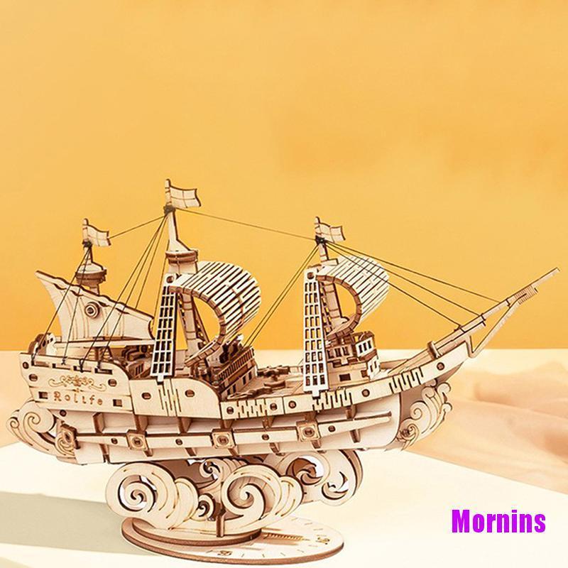 Mornin☪3D Wooden Puzzle Games Assembly Model Kits Toys For Children Kids Girls Gift