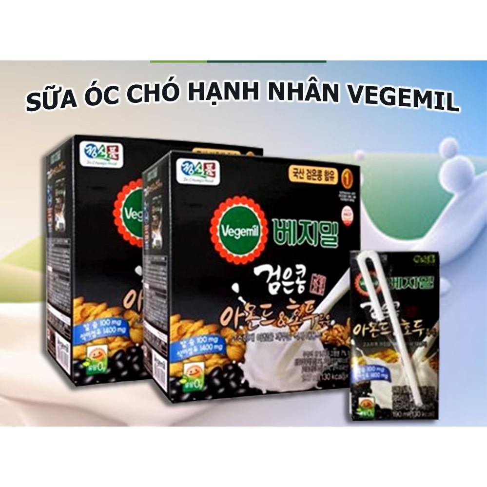 Sữa Óc Chó Hạnh Nhân Đậu Đen Vegemil - Hàn Quốc
