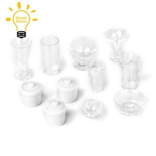→♣11 Stueck 1/12 Puppenhaus Miniatur Kunststoff Haushalt Kueche Contain