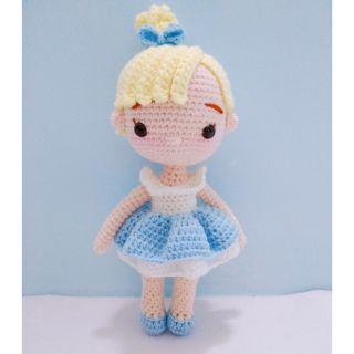 Búp bê Công chúa Lọ Lem bằng len (hàng có sẵn- như hình)