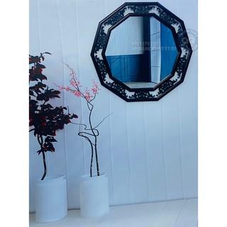 Gương soi toàn thân Gương soi nhà tắm Gương nhà tắm Gương trang điểm Gương đa giác 10 cạnh có khung