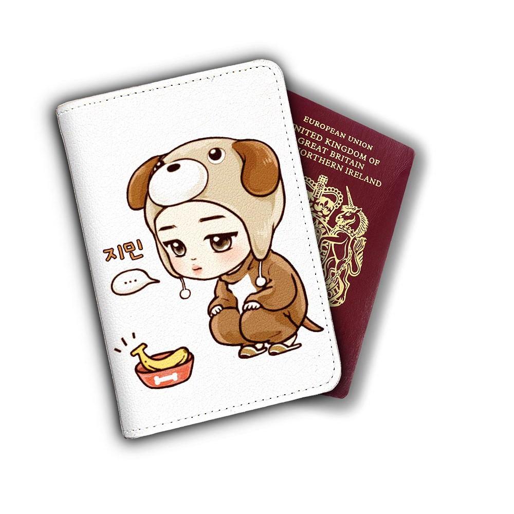 Ví bọc hộ chiếu (passport) hình chibi Jimin BTS - mã BTS00012 | Shopee Việt Nam