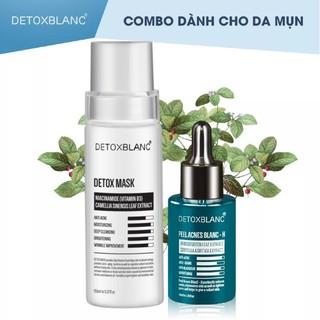 Combo thải độc giảm mụn viêm (detox mask+serum peel H) detox blanc thumbnail