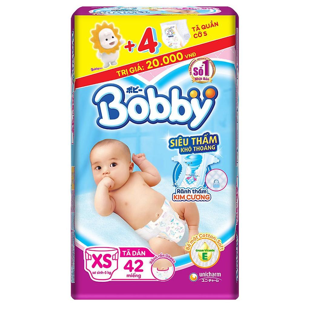 Tã dán Bobby XS42/ XS36 (bé [5kg)