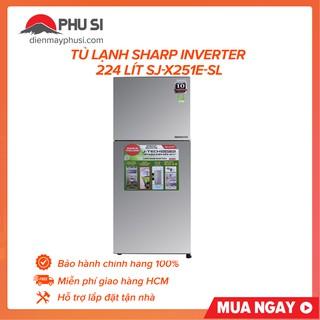 [GIAO HCM] Tủ lạnh Sharp Apricot SJ-X251E-SL, 241 lít, Inverter