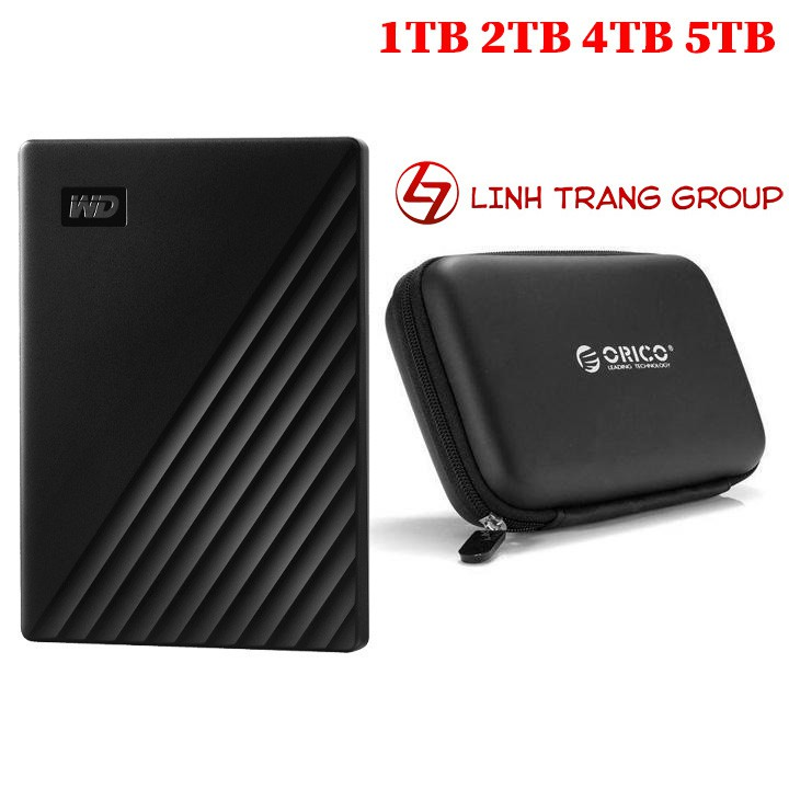 Ổ cứng di động USB3.0 Western Digital My Passport 5TB 4TB 2TB 1TB - bảo hành 3 năm SD36 SD37 SD38 SD39