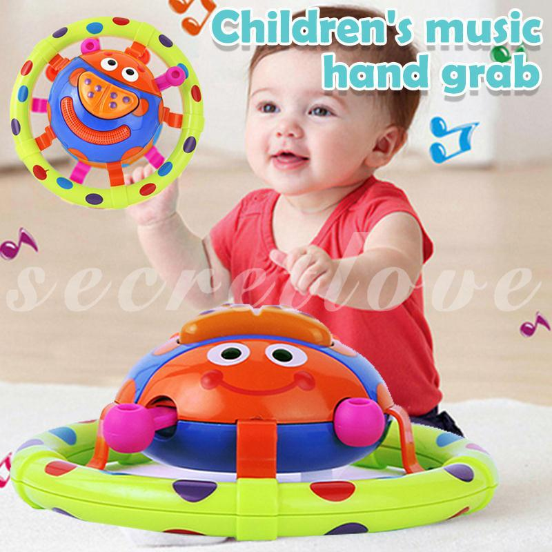 [COD] Multicolor Beetle Rattle Toy Music Bell Decor Beautiful Baby
