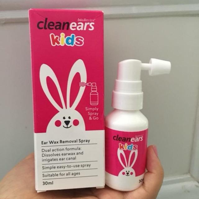 Xịt tan ráy tai Clean Ears Kids - Úc cho bé 2m+