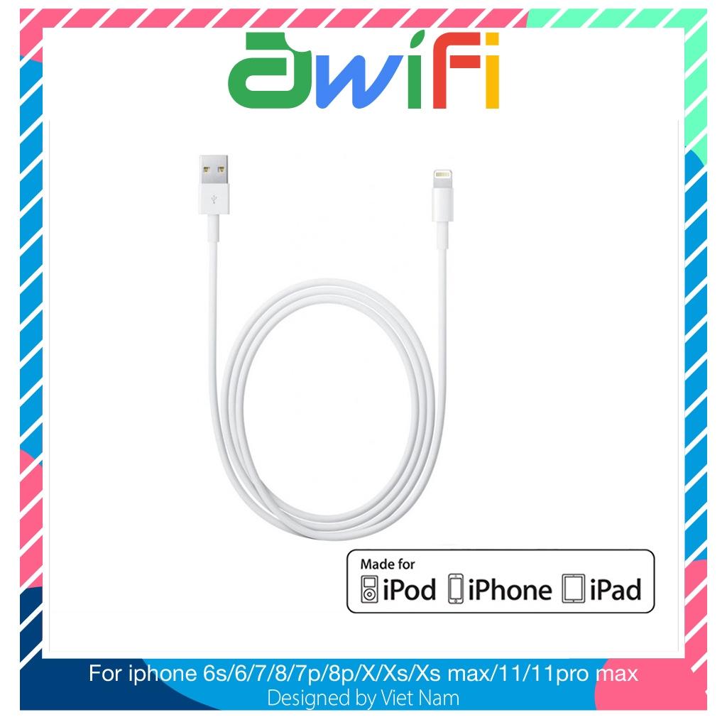 Cáp sạc lightning màu trắng iphone - Awifi Case L3-2
