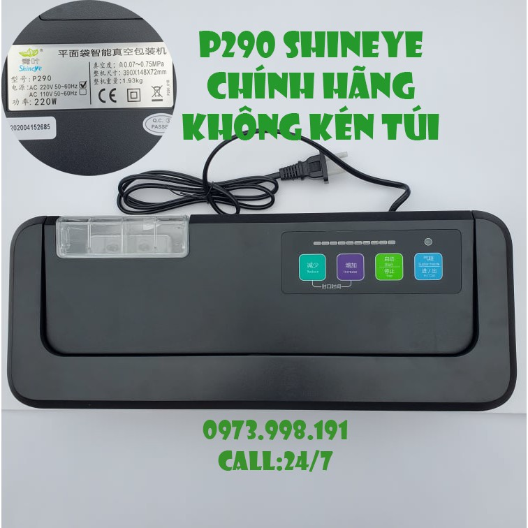 Máy Hút Chân Không P290 Shineye - Không Kén Túi