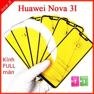 Kính cường lực Huawei Nova 3I full màn hình, Ảnh thực shop tự chụp, tặng kèm bộ giấy lau kính taiyoshop2 thumbnail