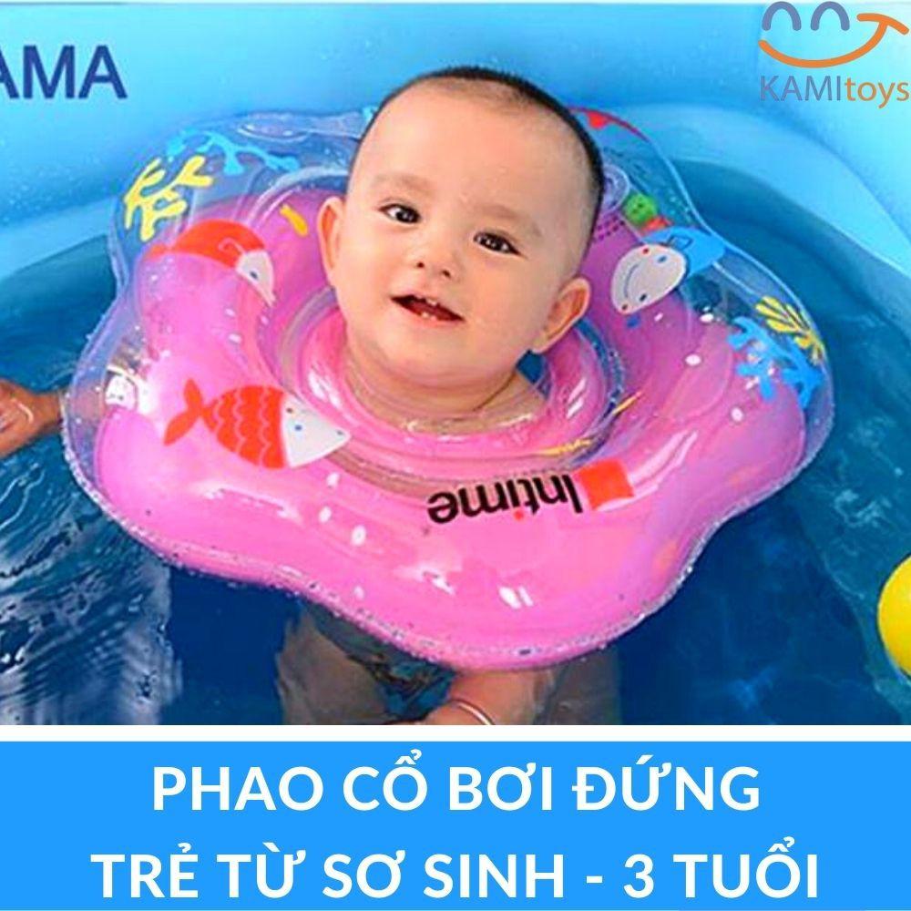 Phao bơi đeo cổ cho trẻ (Sơ sinh-3 tuổi) có quai tay cầm tập bơi đứng mã 50022