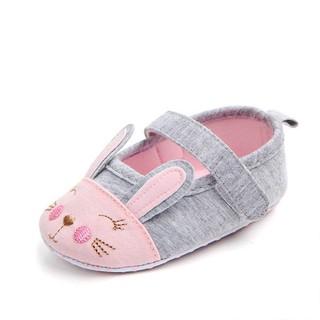 Giày tập đi bằng vải cho bé gái 0-18 tháng họa tiết thỏ xinh xắn BBShine TD17 thumbnail