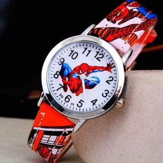 Đồng hồ siêu nhân nhện mặt kính dây PU