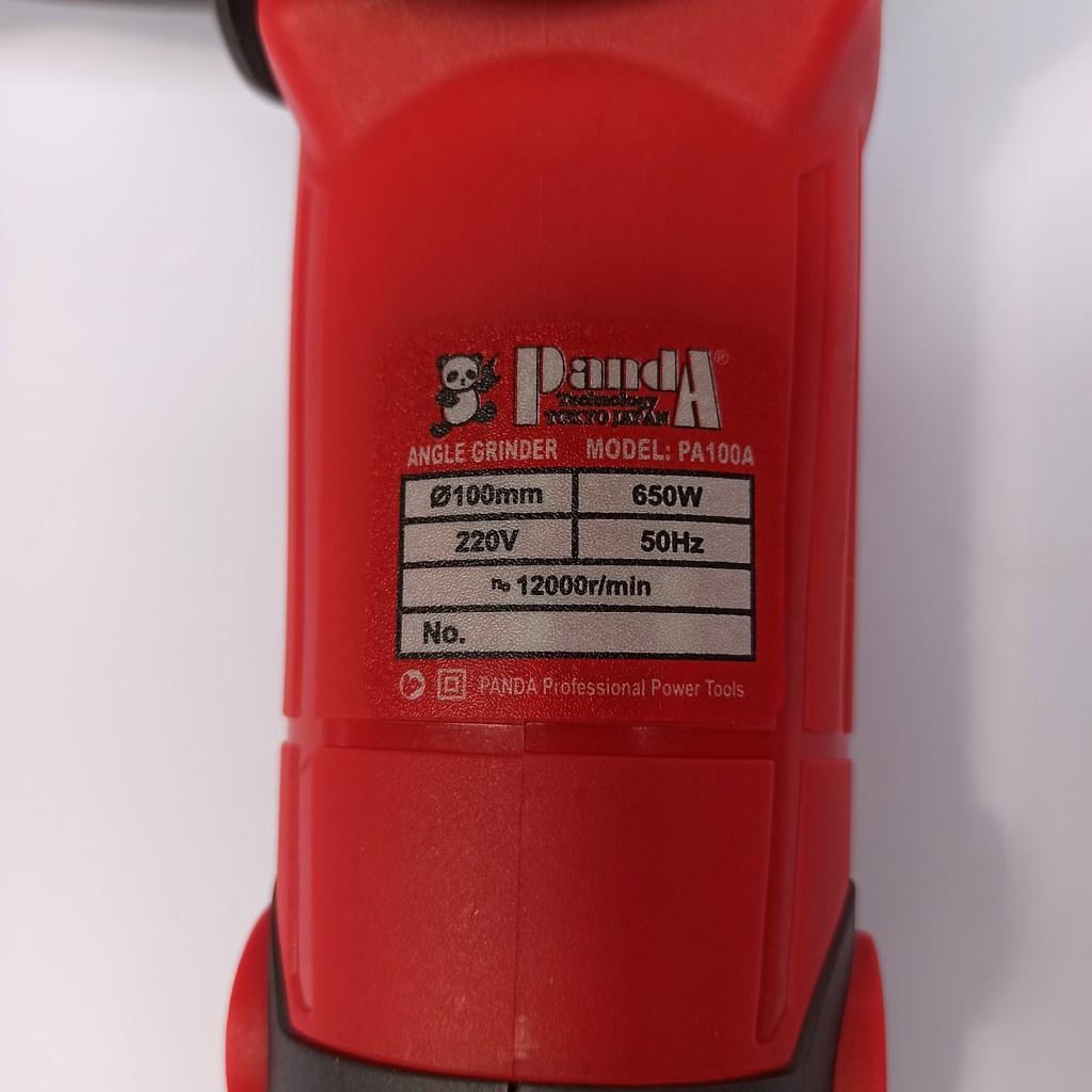 Máy mài cầm tay Panda PA100A, 650W, mài góc, đánh bóng vật dụng, máy cắt cầm tay, công tắc chuôi dài