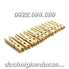 Kẹp gỗ mộc bé - 3.5cm - set 10 chiếc