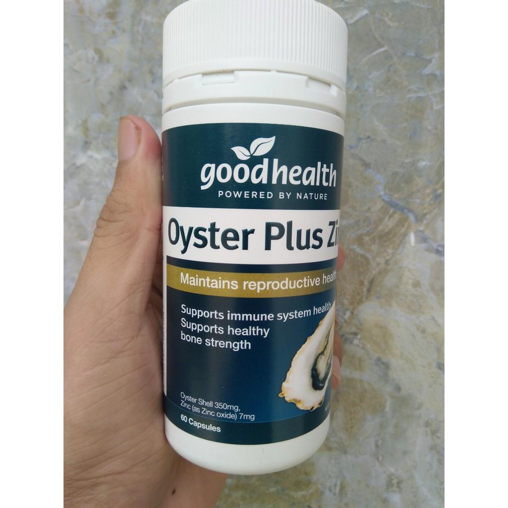 [MẪU MỚI NHẤT] Tinh chất hàu biển Oyster Plus Goodhealth 60 viên (SX: Úc)