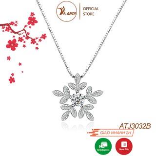 Dây chuyền bạc S925 Ý, mặt Nữ Bông Tuyết Trắng AT2043A -Trang Sức 𝐀𝐍𝐓𝐀 𝐉𝐞𝐰𝐞𝐥𝐫𝐲