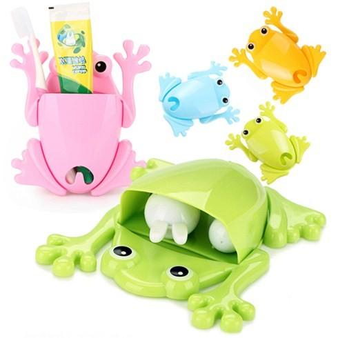 Dụng cụ để bàn chải và kem đánh răng hình chú ếch ngộ nghĩnh