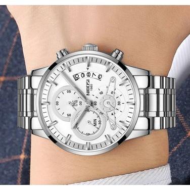 [Tặng vòng tay]Đồng hồ nam NIBOSI chính hãng NI2309-1.06 dây thép đức 6 kim đẳng cấp