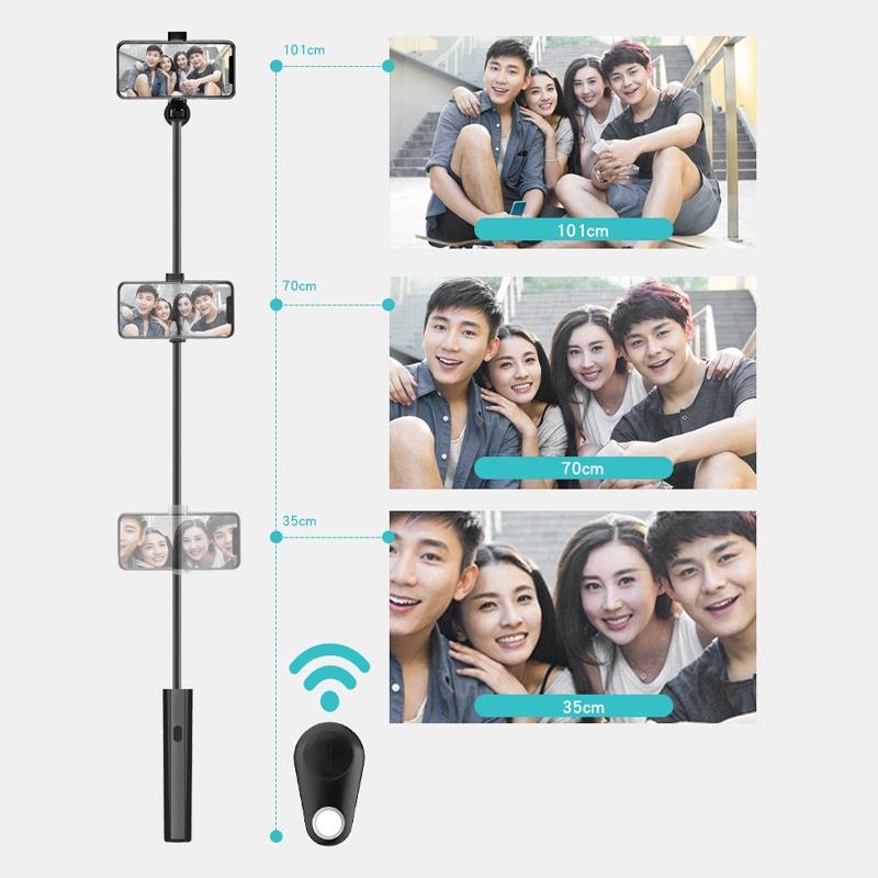 Bluetooth Remote wireless control ready stock monopad selfie timer Selfie Stick Portable camera shutter