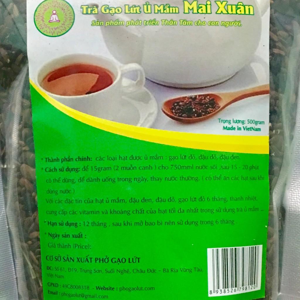 Trà mầm gạo lứt đậu đen xanh lòng đậu đỏ sạch ko phân thuốc giảm cân detox thanh lọc giải độc
