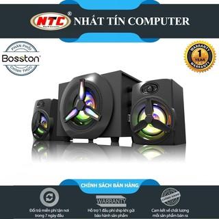 Loa máy tính 2.1 kiêm Bluetooth USB thẻ nhớ Bosston T1750-BT 40W led RGB 7 màu-