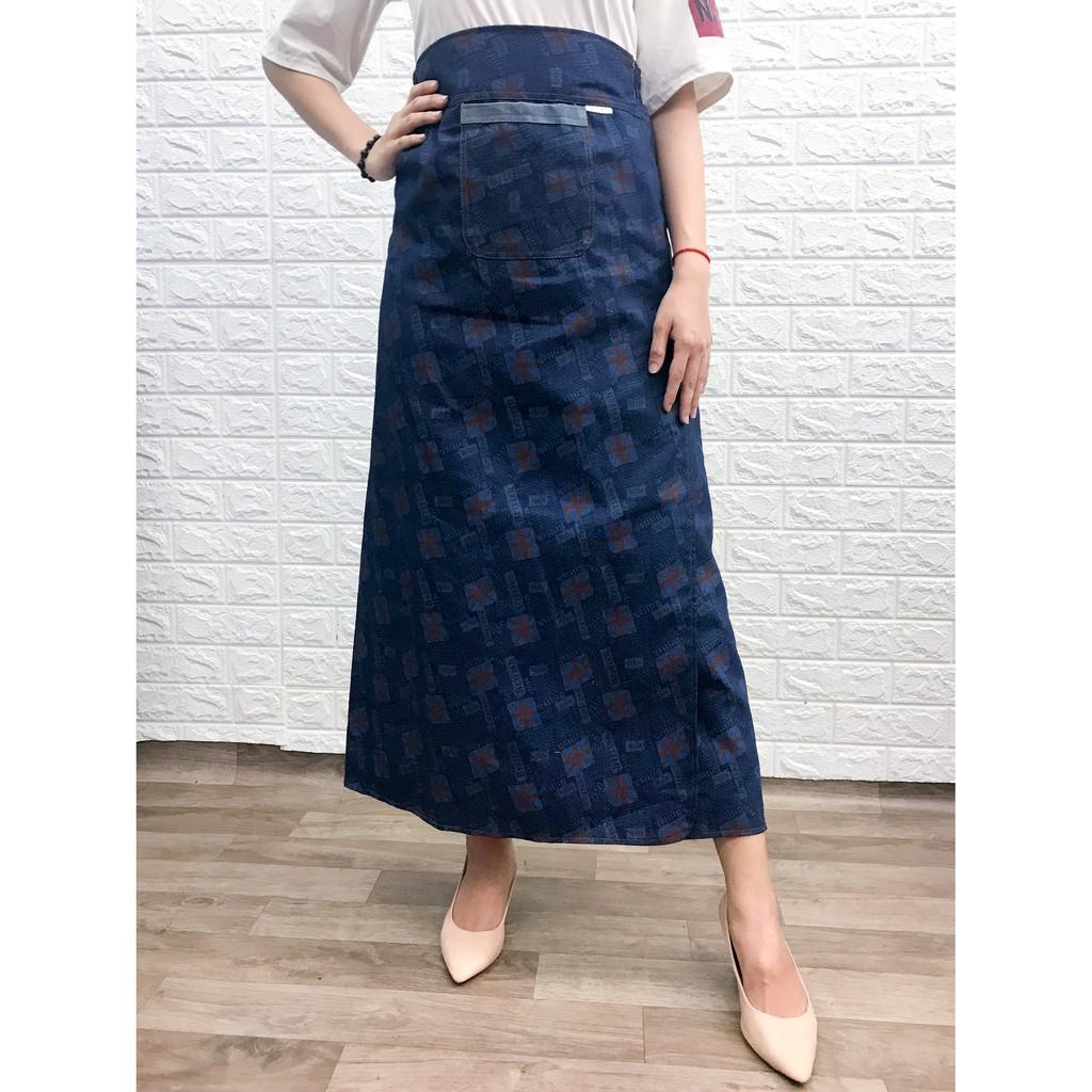 Váy chống nắng jean xẻ trước VJXT0025-CHEN