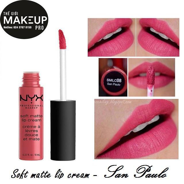 Son kem NYX Soft Matte Lip Cream SMLC08 San Paulo - 3492567 , 669570661 , 322_669570661 , 230000 , Son-kem-NYX-Soft-Matte-Lip-Cream-SMLC08-San-Paulo-322_669570661 , shopee.vn , Son kem NYX Soft Matte Lip Cream SMLC08 San Paulo