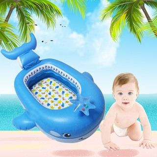 Inflatable Whale Mount Children's Swimming Boat Floating Water Bed Toy