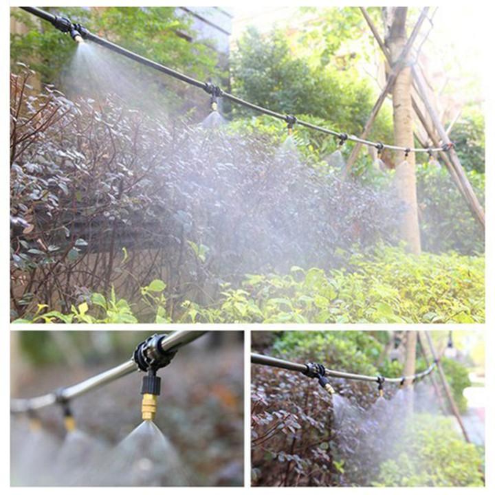 Bộ Kit Phun Sương Làm Mát, Tưới Cây Bằng Béc Đồng Có Hẹn Giờ Tưới - Tưới Vườn Lan, Cây Cảnh, Làm Mát Không Khí