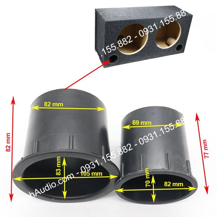 ống thông hơi thùng loa ,loại lớn và nhỏ , giá 01 chiếc