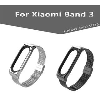 Dây đeo thay thế kim loại cho Xiaomi Miband 3,Mi band 3,Miband3-Tặng miếng dán màn hình