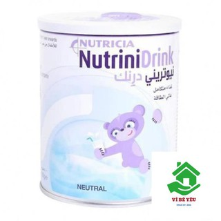 Combo 3 lon Sữa bột NutriniDrink Vani 400g (Nutrini Drink) date T8.2020