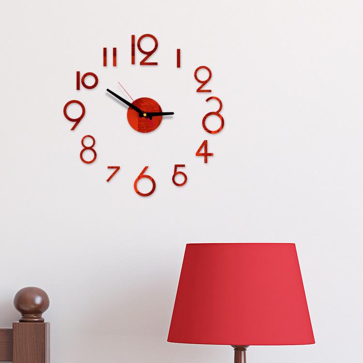 Đồng hồ treo tường 3d bằng nhựa acrylic chất lượng