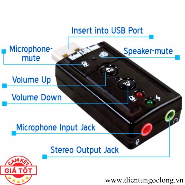 USB Ra Sound 3D 7.1 Âm Thanh Chuẩn