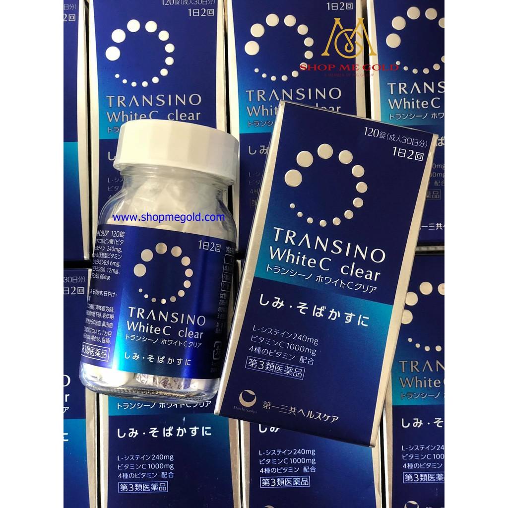 Viên uống trị nám Transino White Clear C (Hộp 120 viên) - 14019419 , 1618219547 , 322_1618219547 , 670000 , Vien-uong-tri-nam-Transino-White-Clear-C-Hop-120-vien-322_1618219547 , shopee.vn , Viên uống trị nám Transino White Clear C (Hộp 120 viên)
