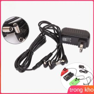 Pedal Power Adapter Supply 9V DC 1A for Guitar Effect Pedal with Cable 5 Way Chain Cord