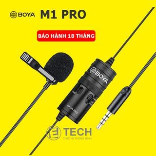 [Mã ELMSBC giảm 8% đơn 300K] Micro thu âm gài áo Lavalier BOYA BY M1 PRO