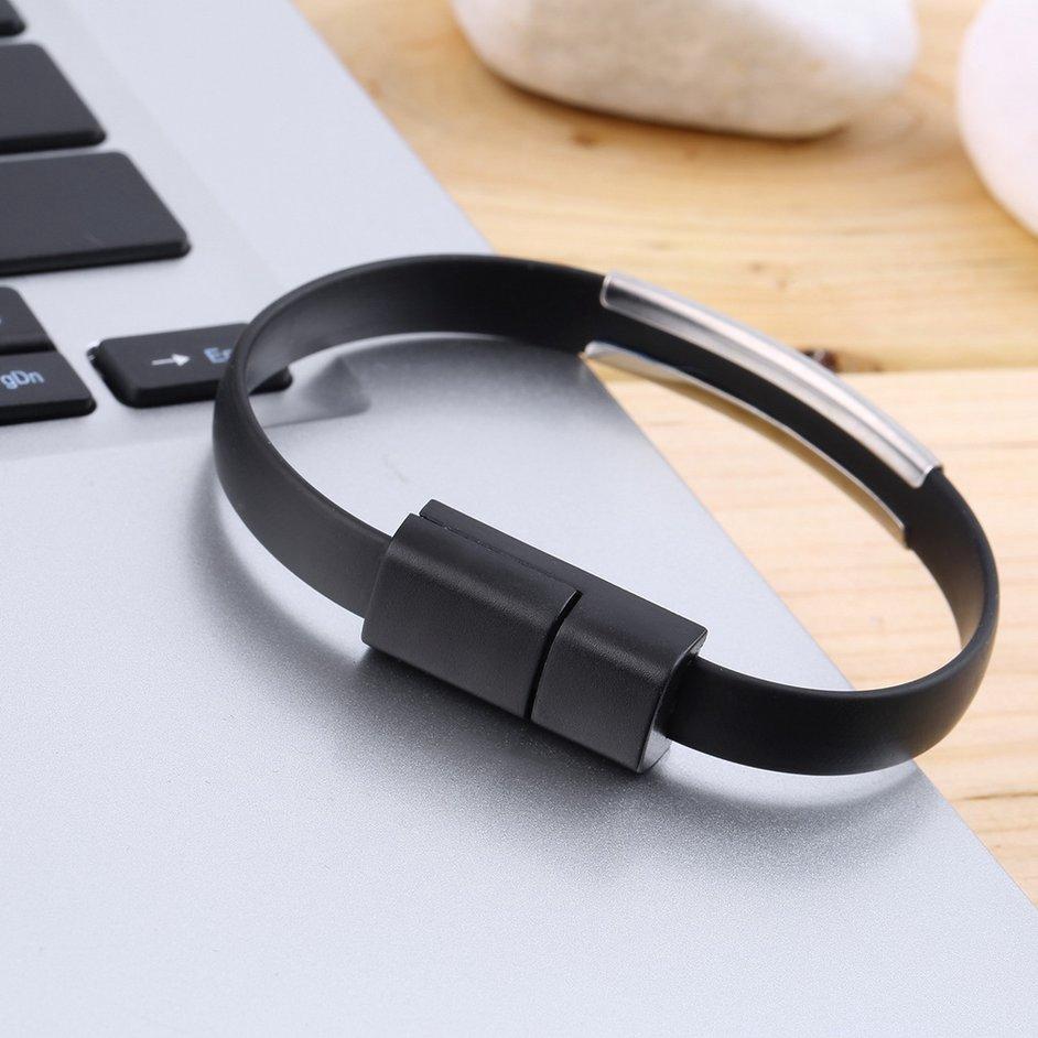 Dây cáp sạc nhanh Micro USB mềm dẻo dạng vòng tay cho Android