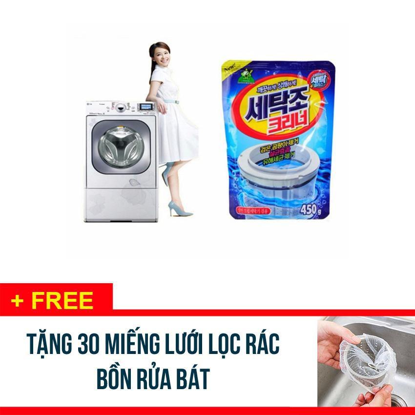 Bộ 3 gói bột vệ sinh tẩy lồng máy giặt Hàn Quốc 450Gr - Tặng 30 túi lưới lọc rác bồn rửa - 15266386 , 848335663 , 322_848335663 , 135600 , Bo-3-goi-bot-ve-sinh-tay-long-may-giat-Han-Quoc-450Gr-Tang-30-tui-luoi-loc-rac-bon-rua-322_848335663 , shopee.vn , Bộ 3 gói bột vệ sinh tẩy lồng máy giặt Hàn Quốc 450Gr - Tặng 30 túi lưới lọc rác bồn rử
