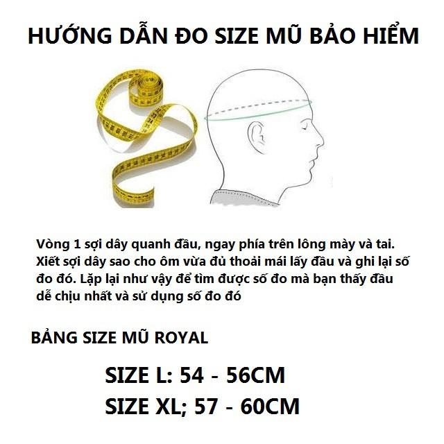 Bán Sỉ - Mũ Bảo Hiểm Fullface Royal M136 - Tem GXT