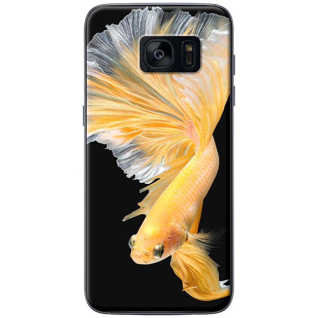 Ốp lưng nhựa dẻo Samsung S7, S7 Edge Cá betta vàng