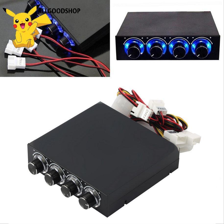 all} Thiết bị điều khiển LED tốc độ quạt 3.5inch PC HDD 4 kênh chuyên dụng cho quạt máy tính